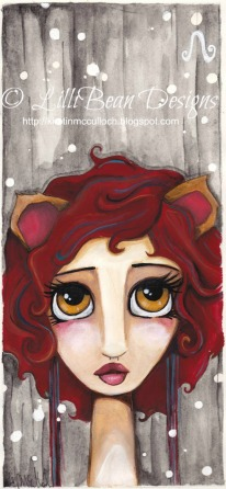 zodiac painting by lillibean designs LEO
