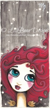 zodiac girl painting by LilliBean Designs VIRGO
