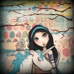 NEW IN STORE Spring on a Cold Winters Day mixed media painting on canvas click for more: {click!}