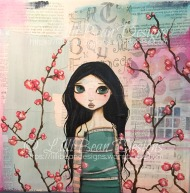 BLOSSOM mixed media on canvas {30x30cms) Available for sale HERE