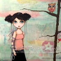GROUNDED mixed media on canvas {30x30cms) Available for sale HERE