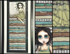 Princess + the Pea Original Mixed Media Painting. Approx 44x16cms The painting comes framed in a standard black frame FREE SHIPPING US$250