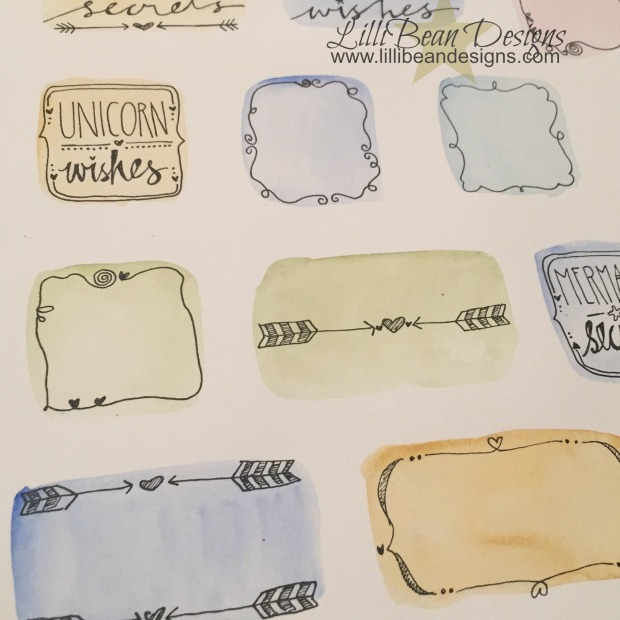 Playing with a new idea I love how the water colour splashes look together on the page!
