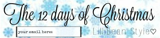 12 days of Christmas - email sign up