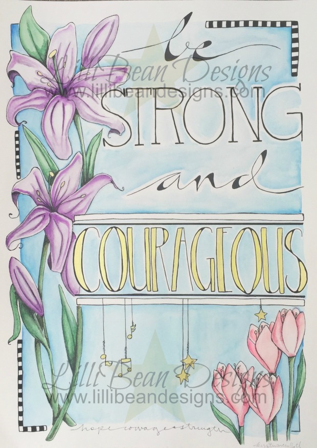 Be strong + courageous [wm]